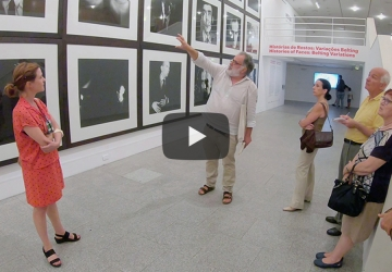 Visita à exposição História de Rostos: Variações Belting orientada pelos curadores Marta Mestre e João Figueira