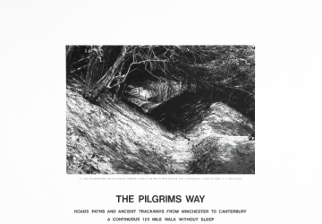 Hamish Fulton, The Pilgrims Way, 1991