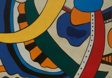 Fernand Léger, Composition, 1953. Fotografia  José Manuel Costa Alves. (detalhe)